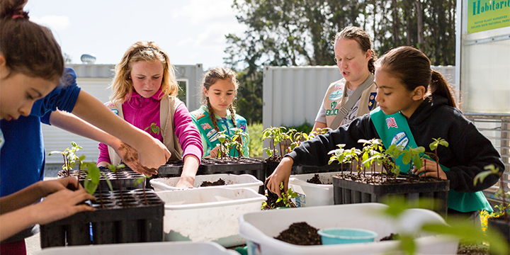 Girl Scouts at Presidio Nursery