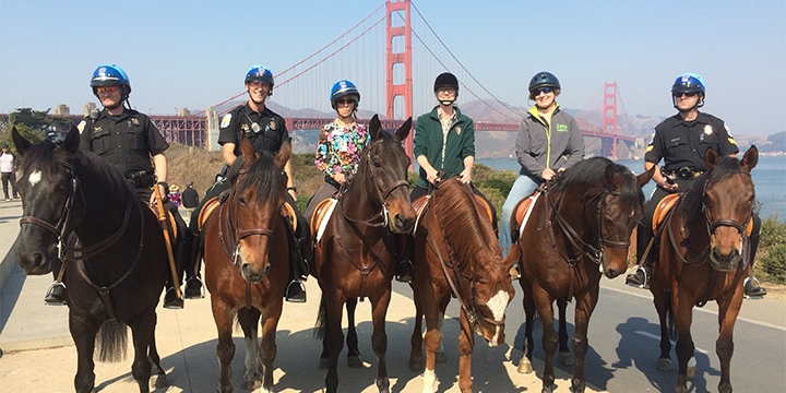 US Park Police in the Presidio