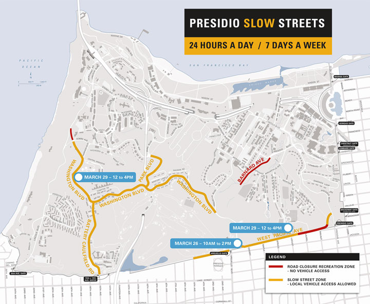 Presidio Slow Streets Map