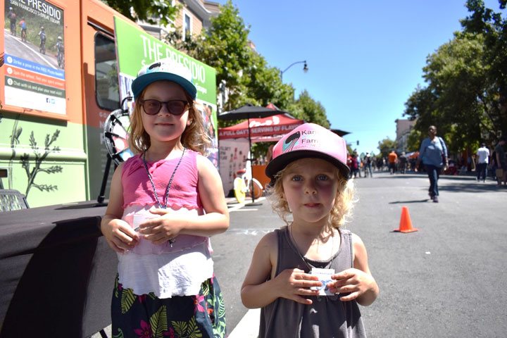 Aurelia and Una at Sunday Streets