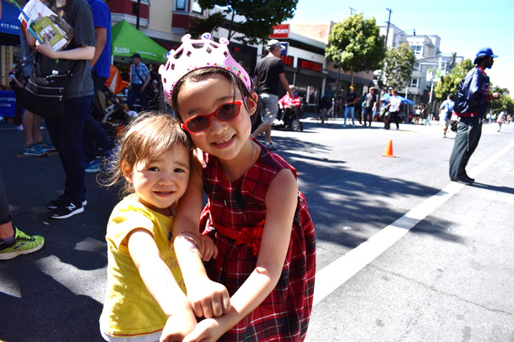 Kylie and her Little Sister at Sunday Streets