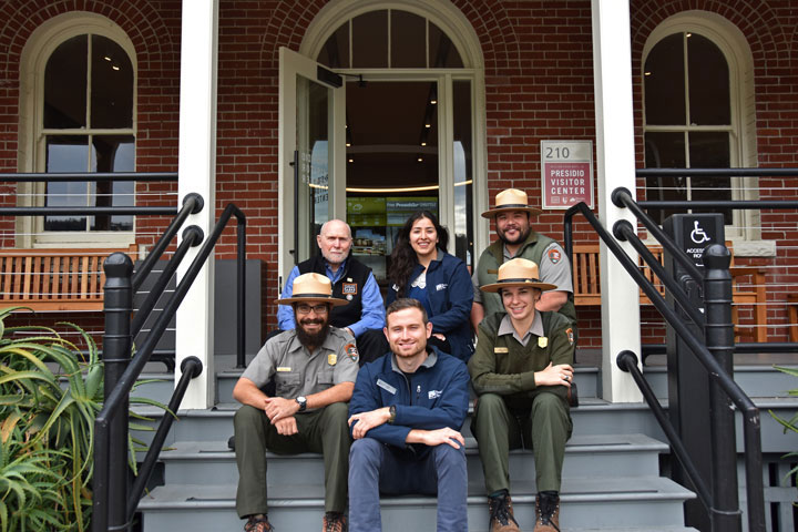 staff and volunteers at the Presidio Visitor Center