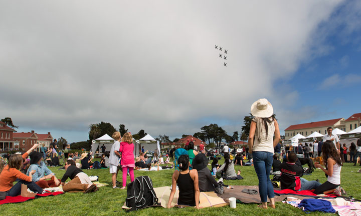 Fleet Week in the Presidio