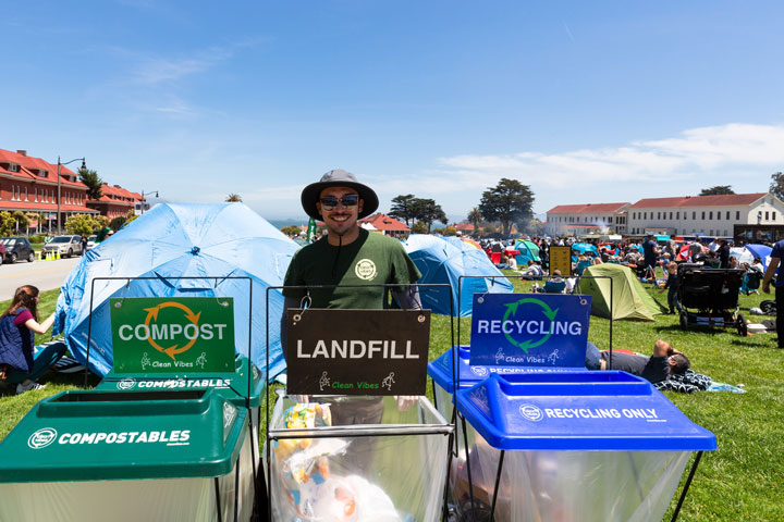 Waste bins at Presidio Picnic