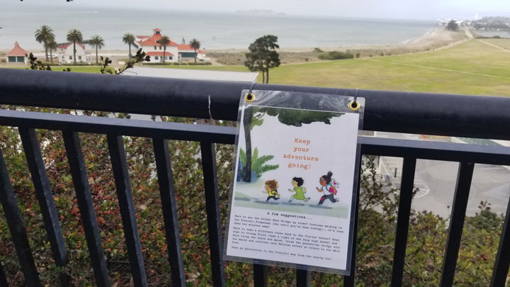 Storywalk Sign on Crissy Field
