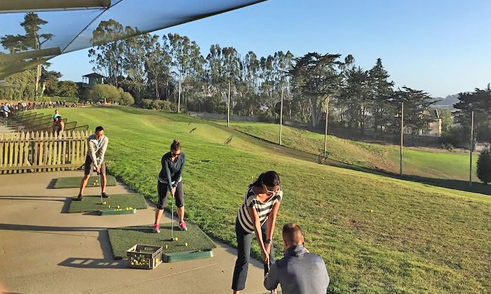 Women's Golf Club at driving range