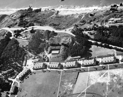 Fort Winfield Scott aerial photo from February 25, 1942