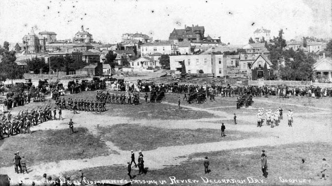 Battalion Drill Companies Passing in Review, Decoration Day – May 30, 1883