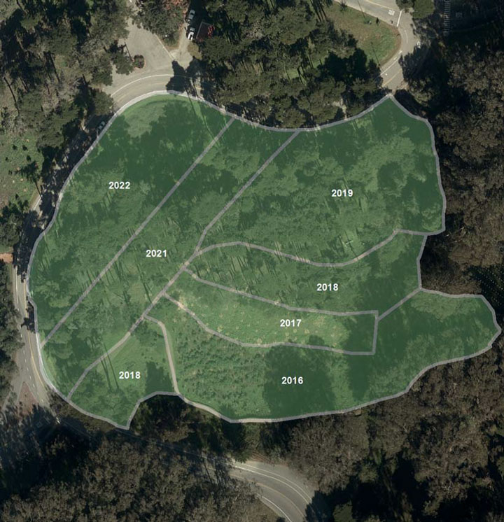Presidio reforestation map