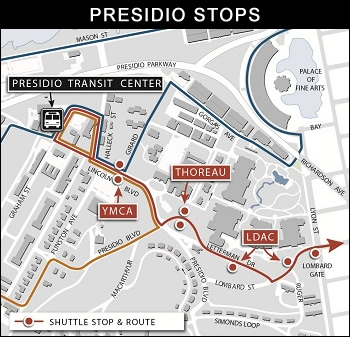 Presidio Transit Center Departure Schedule