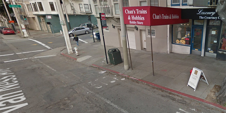 Van Ness Avenue and Union Street stop